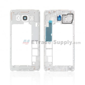 For Samsung Galaxy J5 (2016) SM-J510F Rear Housing Replacement (Double SIM Card) - White - Grade S+ (0)