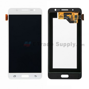 For Samsung Galaxy J5 (2016) SM-J510 LCD Screen and Digitizer Assembly Replacement - White - With Logo - Grade S (0)