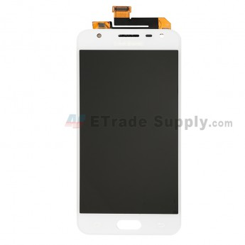 For Samsung Galaxy J5 Prime SM-G570 LCD Screen and Digitizer Assembly Replacement - White - With Logo - Grade S+ (0)