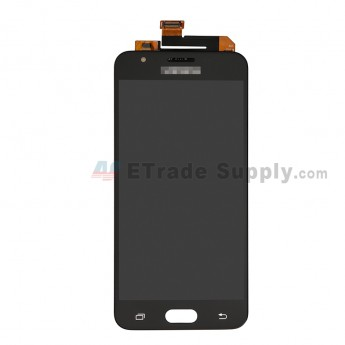 For Samsung Galaxy J5 Prime SM-G570 LCD Screen and Digitizer Assembly Replacement (Single Hole Version) - Black - With Logo - Grade S+ (0)