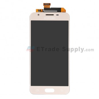 For Samsung Galaxy J5 Prime SM-G570 LCD Screen and Digitizer Assembly Replacement (Single Hole Version) - Gold - With Logo - Grade S+ (0)
