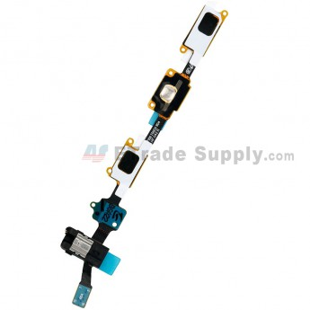 For Samsung Galaxy J7 (2016) SM-J710F Home Button Flex Cable Ribbon with Earphone Jack Replacement - Grade S+ (0)