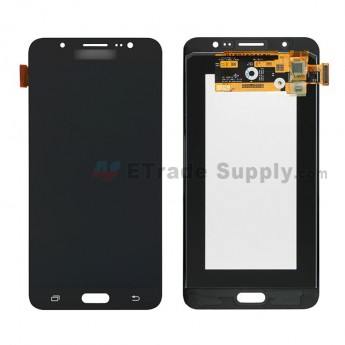 For Samsung Galaxy J7 (2016) SM-J710F LCD Screen and Digitizer Assembly Replacement - Black - With Logo - Grade S (0)