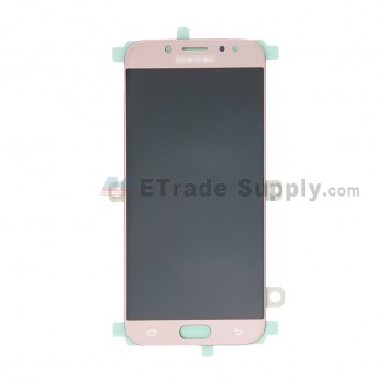 For Samsung Galaxy J7 (2017) SM-J730F LCD Screen and Digitizer Assembly Replacement - Pink - With Logo - Grade S+ (0)