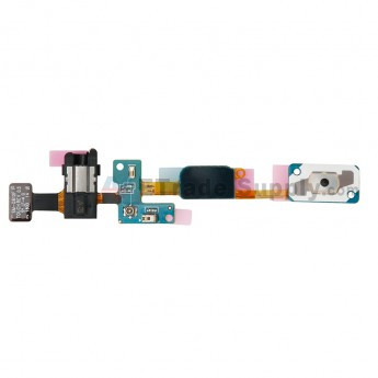 For Samsung Galaxy J7 Prime Home Button with Earphone Jack Flex Cable Ribbon Replacement - Grade S+ (0)