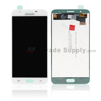 For Samsung Galaxy J7 Prime LCD Screen and Digitizer Assembly Replacement - White - With Logo - Grade S+ (0)