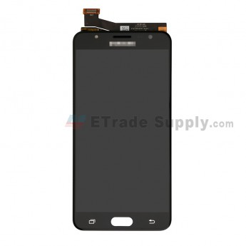 For Samsung Galaxy J7 Prime SM-G610 LCD Screen and Digitizer Assembly Replacement (Double Hole Version) - Black - With Logo - Grade S+ (0)
