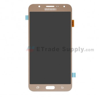 For Samsung Galaxy J7 SM-J700F LCD Screen and Digitizer Assembly Replacement - Gold - With Logo - Grade R (0)