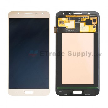 For Samsung Galaxy J7 SM-J700F LCD Screen and Digitizer Assembly Replacement - Gold - With Logo - Grade S+ (0)