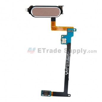 For Samsung Galaxy Note 4 Home Button with Flex Cable Ribbon Replacement - Gold - Grade S+ (0)