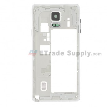For Samsung Galaxy Note 4 SM-N910C Rear Housing Replacement - White - Grade S+ (0)