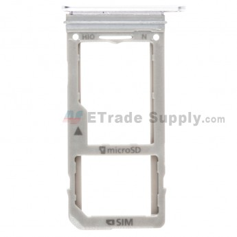 For Samsung Galaxy Note 8 N950U/N950F/N950FD/N950W/N950N SIM Card Tray Replacement (Single SIM Card) - Silver - Grade S+ (0)