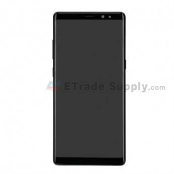 For Samsung Galaxy Note 8 Series LCD Screen and Digitizer Assembly with Front Housing Replacement - Black - Without Logo - Grade S (0)