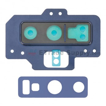 For Samsung Galaxy Note 9 Series Rear Facing Camera Lens with Bezel Replacement - Blue - Grade S+ (0)