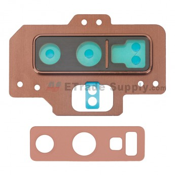 For Samsung Galaxy Note 9 Series Rear Facing Camera Lens with Bezel Replacement - Brown - Grade S+ (0)
