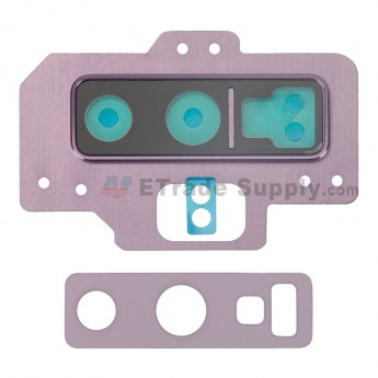 For Samsung Galaxy Note 9 Series Rear Facing Camera Lens with Bezel Replacement - Purple - Grade S+ (0)