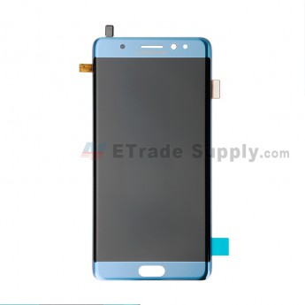 For Samsung Galaxy Note FE LCD Screen and Digitizer Assembly Replacement - Blue - With Logo - Grade S+ (0)