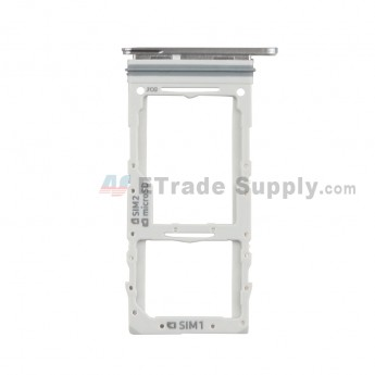 For Samsung Galaxy S20 Plus Series SIM Card Tray Replacement (Double SIM Card) - Gray - Grade S+ (0)
