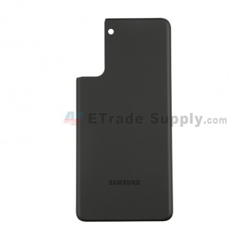 For Samsung Galaxy S21 Plus Series Battery Door Replacement - Black - With Logo - Grade S+ (0)