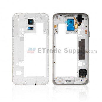 For Samsung Galaxy S5 SM-G900A Rear Housing Replacement - White - Grade R (0)