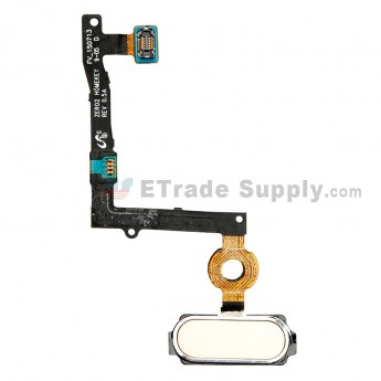 For Samsung Galaxy S6 Edge Plus Series Home Button Flex Cable Ribbon Replacement - Gold - Grade S+ (0)