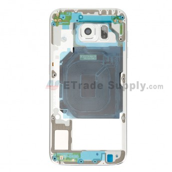 For Samsung Galaxy S6 SM-G920F Rear Housing Replacement - White - Grade S+ (9)