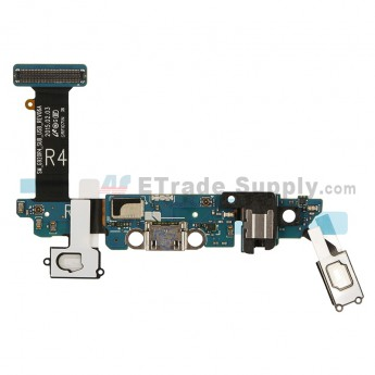 For Samsung Galaxy S6 SM-G920R4 Charging Port Flex Ribbon with Earphone Jack and Sensor Replacement - Grade S+ (0)