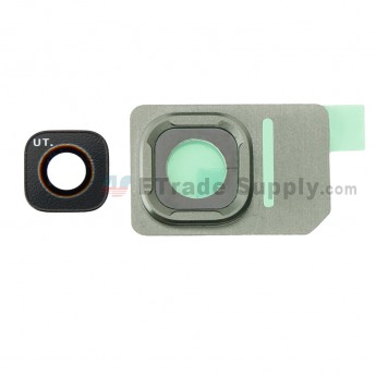 For Samsung Galaxy S7 Active SM-G891 Rear Facing Camera Lens with Bezel Replacement - Green - Grade S+ (0)