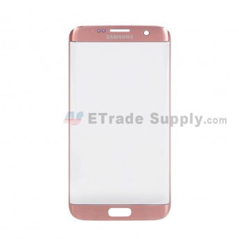 For Samsung Galaxy S7 Edge G935/G935F/G935A/G935V/G935P/G935T/G935R4/G935W8 Glass Lens Replacement - Pink - With Logo - Grade S+ (0)