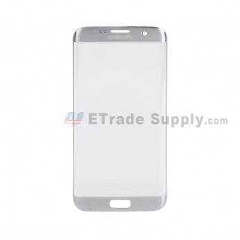 For Samsung Galaxy S7 Edge G935/G935F/G935A/G935V/G935P/G935T/G935R4/G935W8 Glass Lens Replacement - Silver - With Logo - Grade S+ (2)