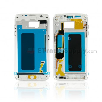 For Samsung Galaxy S7 Edge G935/G935F/G935A/G935V/G935P/G935T/G935R4/G935W8 Partition Replacement - Silver - Grade S+ (0)