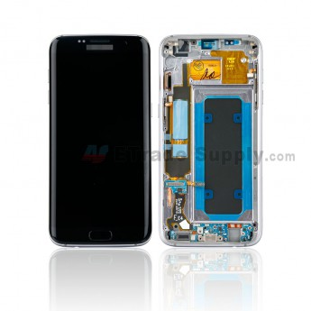 For Samsung Galaxy S7 Edge SM-G935F LCD Screen and Digitizer Assembly with Front Housing Replacement - Black - With Logo - Grade S+ (0)