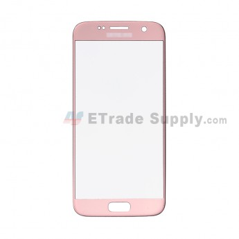 For Samsung Galaxy S7 G930/G930F/G930A/G930V/G930P/G930T/G930R4/G930W8 Glass Lens Replacement - Rose Gold - With Logo - Grade S+ (1)