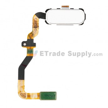For Samsung Galaxy S7 Series Home Button with Flex Cable Ribbon Replacement - White - Grade S+ (0)