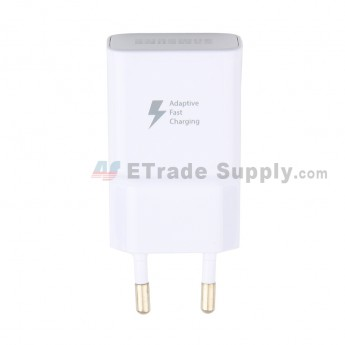 For Samsung Galaxy S8/S8 Plus/S9/Note 8 Charger Replacement (Eur Plug) - White - Grade S+ (0)