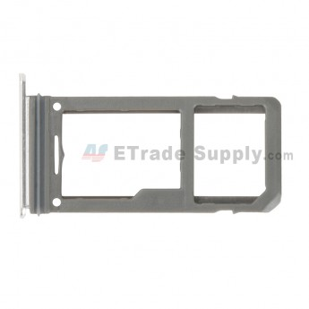 For Samsung Galaxy S8 G950U/G950A/G950V/G950T/G950P/G950F SIM Card Tray Replacement - Silver - Grade S+ (0)