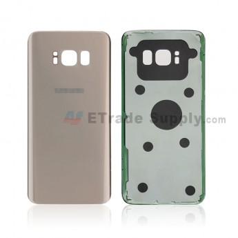 For Samsung Galaxy S8 G950U/G950A/G950V/G950T/G950P Battery Door Replacement - Gold - With Logo - Grade S+ (0)