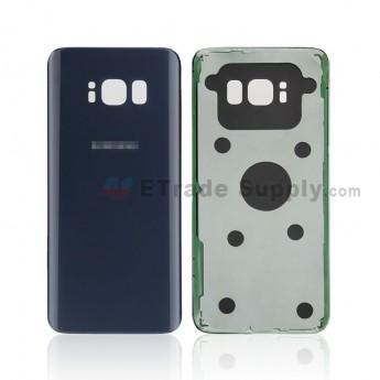 For Samsung Galaxy S8 G950U/G950A/G950V/G950T/G950P Battery Door Replacement - Gray - With Logo - Grade S+ (0)
