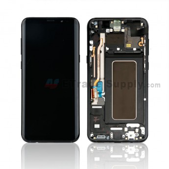 For Samsung Galaxy S8 Plus Series LCD Screen and Digitizer Assembly With Front Housing Replacement - Black - Without Logo - Grade S+ (0)