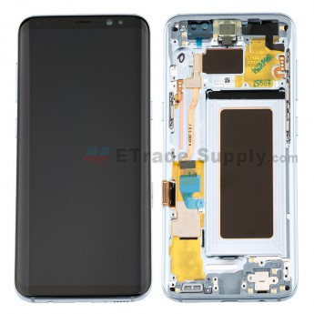 For Samsung Galaxy S8 Series LCD Screen and Digitizer Assembly With Front Housing Replacement - Blue- Without Logo - Grade S+ (2)