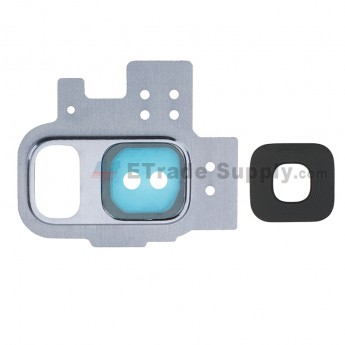 For Samsung Galaxy S9 Series Rear Facing Camera Bezel with Glass Lens Replacement - Blue - Grade S+ (0)
