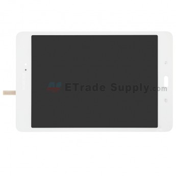 For Samsung Galaxy Tab A 8.0 T350 LCD Screen and Digitizer Assembly Replacement - White - Samsung Logo - Grade S+ (0)
