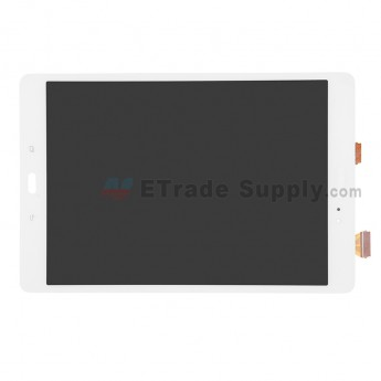 For Samsung Galaxy Tab A 9.7 (SM-P555) Spen LCD Screen and Digitizer Assembly Replacement - White - With Logo - Grade S+ (0)