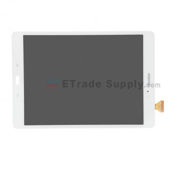 For Samsung Galaxy Tab A 9.7 SM-T550 LCD Screen and Digitizer Assembly Replacement (Wi-Fi Version) - White - Samsung Logo - Grade S+ (0)