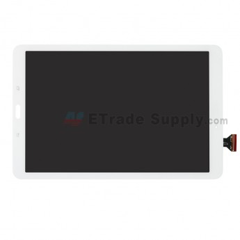 For Samsung Galaxy Tab E 9.6 T560 LCD Screen and Digitizer Assembly Replacement - White - With Samsung Logo - Grade S+ (0)