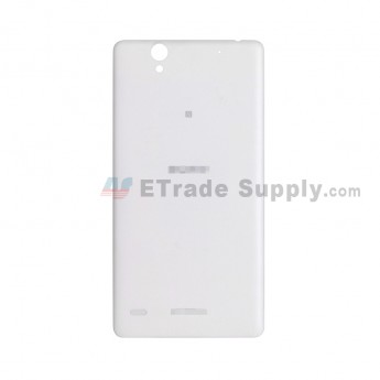 For Sony Xperia C4 Battery Door Replacement - White - With Logo - Grade S+ (2)