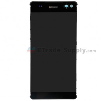 For Sony Xperia C5 Ultra LCD Screen and Digitizer Assembly with Front Housing Replacement - Black - Sony Logo - Grade S+ (0)
