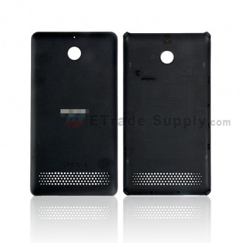 For Sony Xperia E1 Battery Door Replacement - Black - SN and Xperia Logo - Grade R (0)
