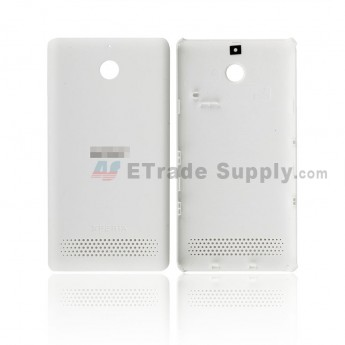 For Sony Xperia E1 Battery Door Replacement - White - SN and Xperia Logo - Grade R (0)