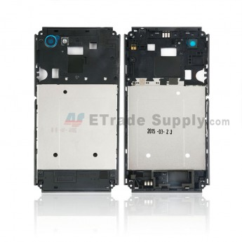 For Sony Xperia E3 Middle Frame Replacement - Black - Grade S+ (0)